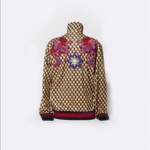 Gucci multicolor embroidered geometric Jacket .